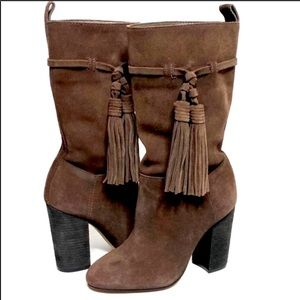 NWOT🖤VINCE CAMUTO Fermel Suede Slouch Boots